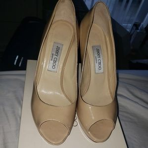 Jimmy Choo Luna Patent Leather Nude